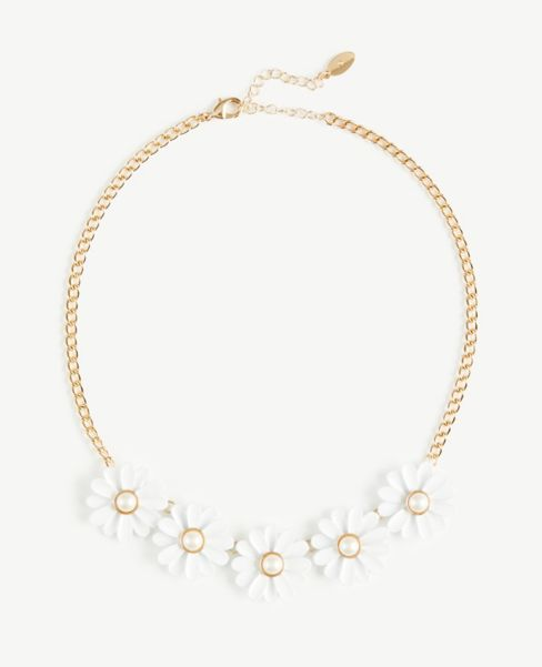Ann Taylor Daisy Statement Necklace