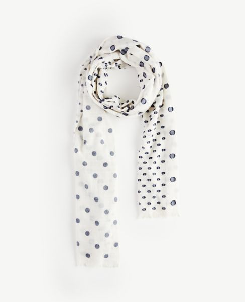 Ann Taylor Mixed Dot Scarf