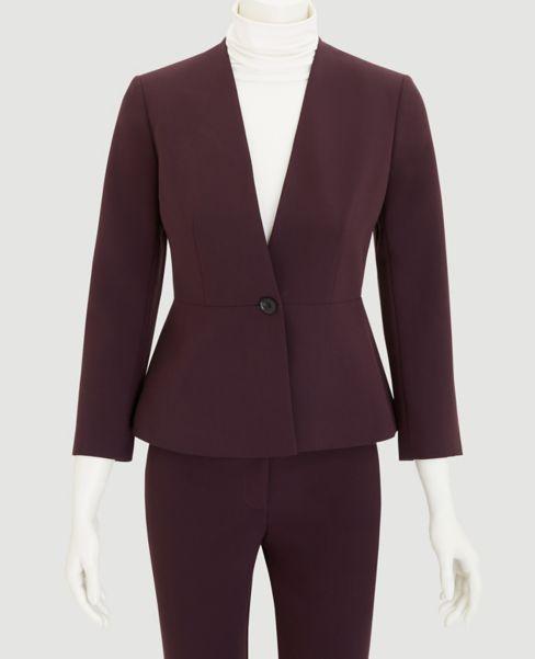 Ann Taylor Peplum Women's Jacket (Shadowed Violet)