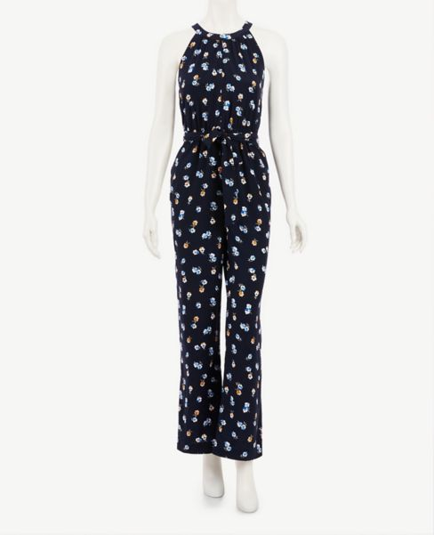 Ann Taylor Tall Floral Halter Jumpsuit
