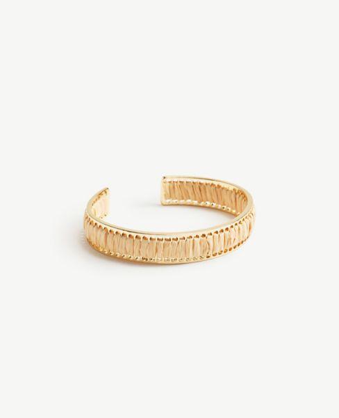 Ann Taylor Straw Bangle Bracelet