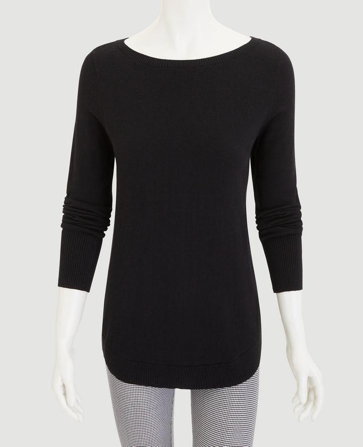 NWT ANN TAYLOR 3//4 Sleeve Bateau Sweater  XL  $69.50 Baked Clay