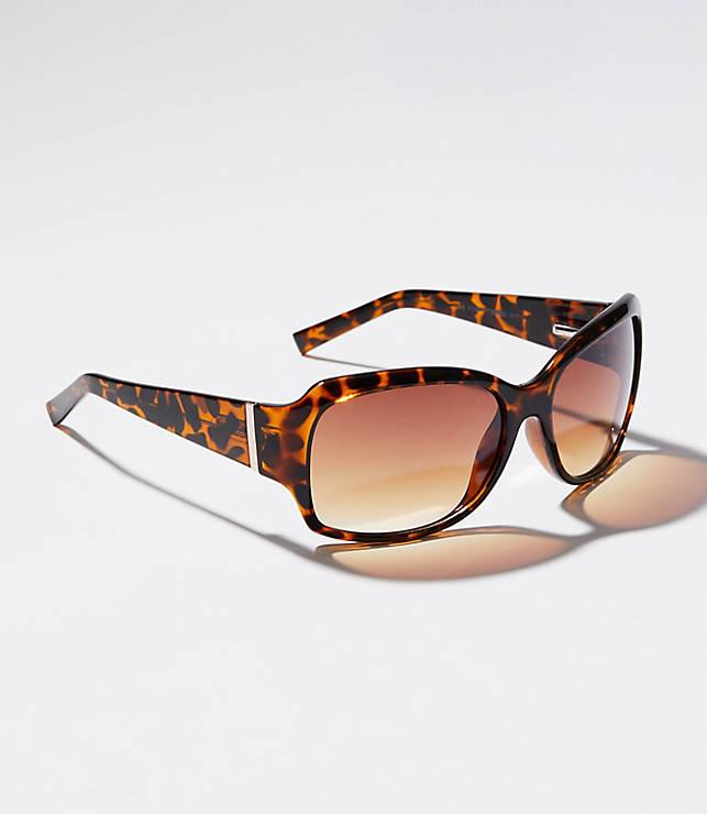 b5ac15eba17 Tortoiseshell Print Square Sunglasses