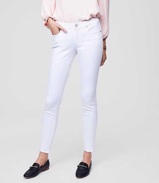 Petite Curvy Skinny Jeans in White