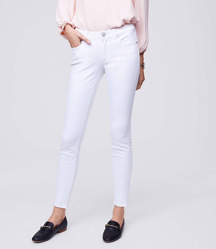 Petite Curvy Skinny Jeans in White