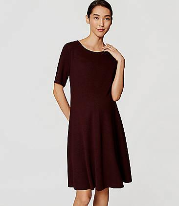 Maternity Short Sleeve Flare Dress