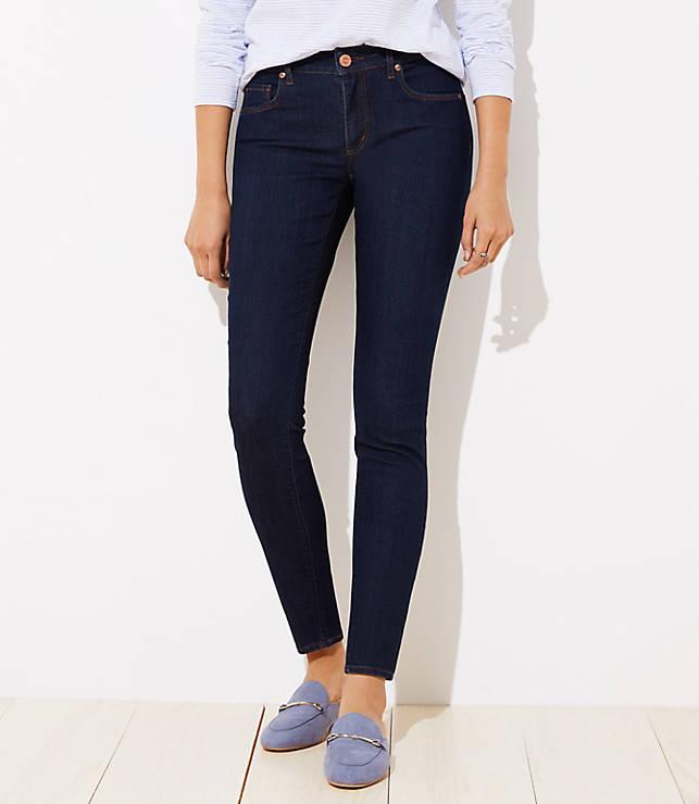 Petite Curvy Skinny Jeans in Dark Rinse Wash