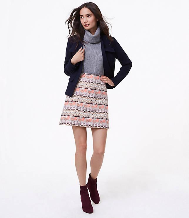 Petite Shimmer Mosaic Shift Skirt