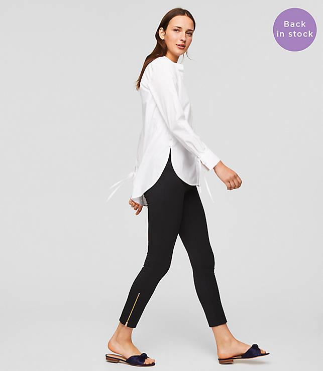 Petite Leggings in Ankle Zip Bi-Stretch