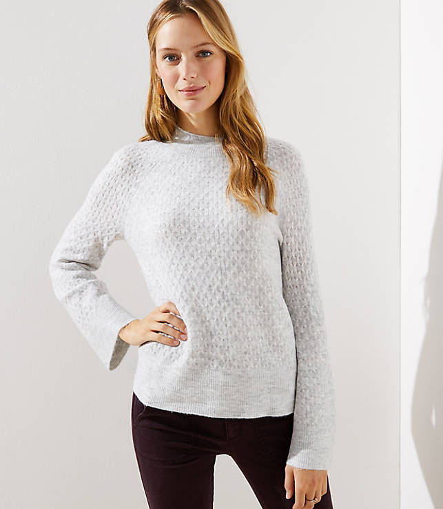 bc759f54788 Stitchy Flare Sleeve Sweater
