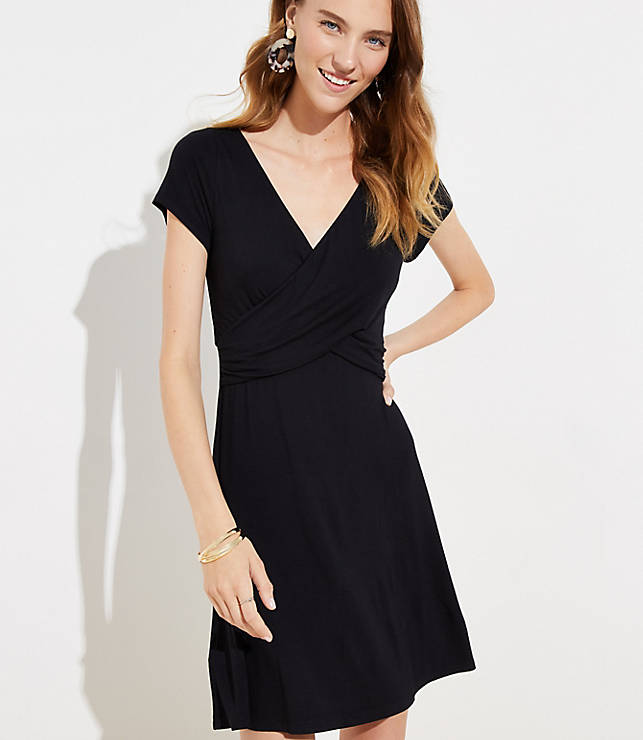 Criss Cross Wrap Dress Loft