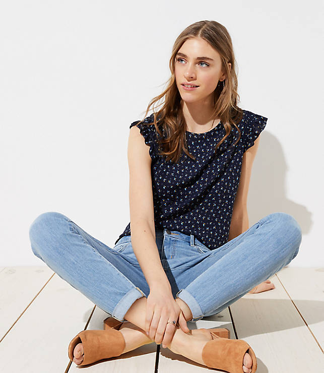 Petite Curvy Skinny Crop Jeans in Light Indigo