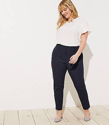 LOFT Plus Pinstripe Skinny Pants