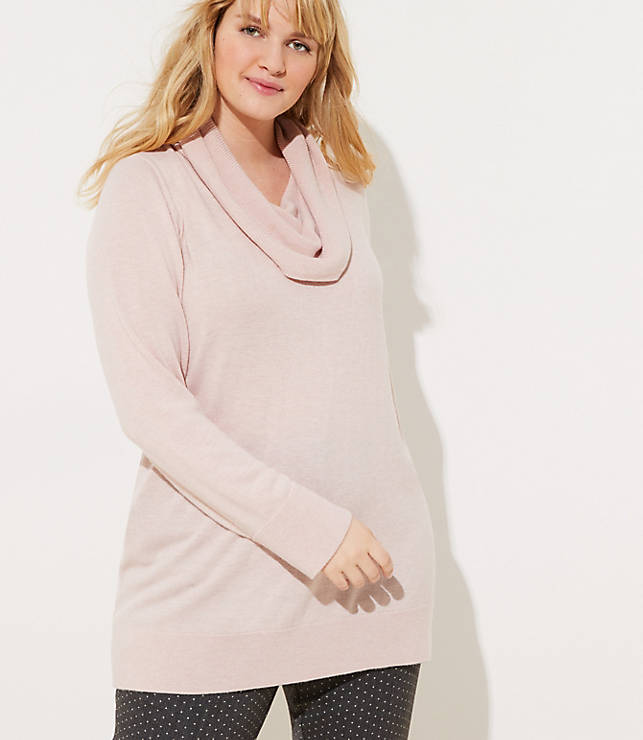 43b22a118b6 LOFT Plus Cowl Neck Tunic Sweater