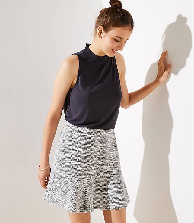 Petite Tweed Flounce Pull On Skirt