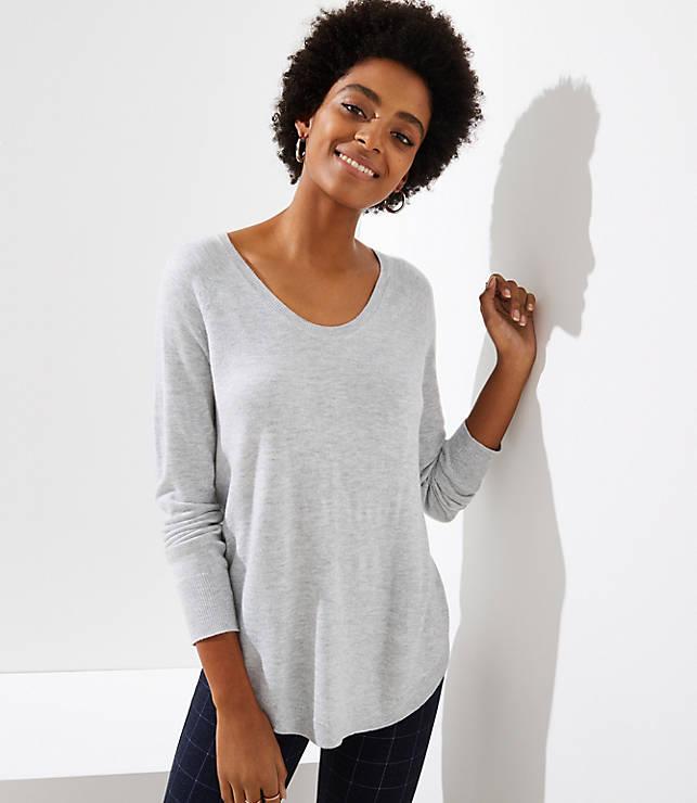 Petite Shirttail Sweater