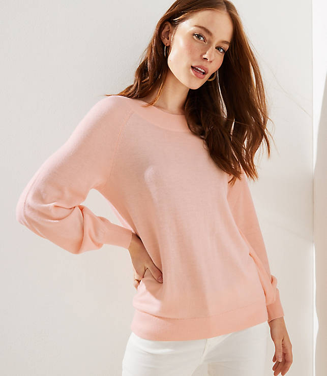 Petite Draped Sleeve Sweater