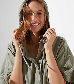 Изображение 1 из 4 - Куртка с капюшоном Poncho