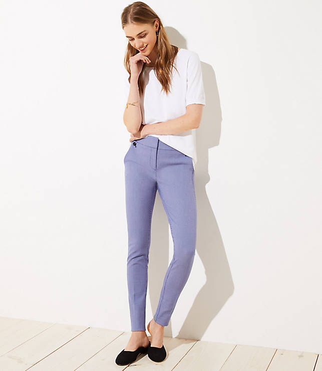 Petite Skinny Houndstooth Ankle Pants in Marisa Fit