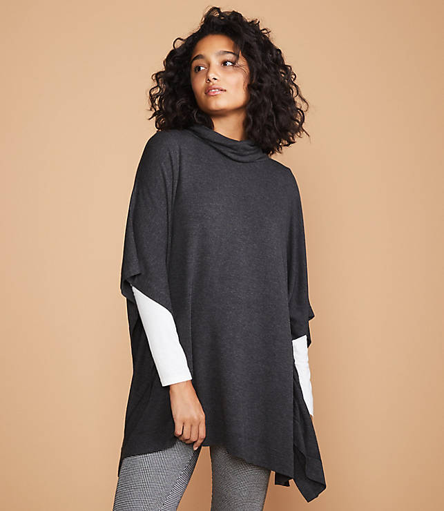 45551c68 Lou & Grey Signaturesoft Funnel Neck Poncho | Lou & Grey