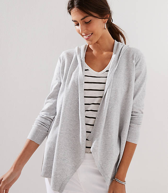 Petite Hooded Open Cardigan