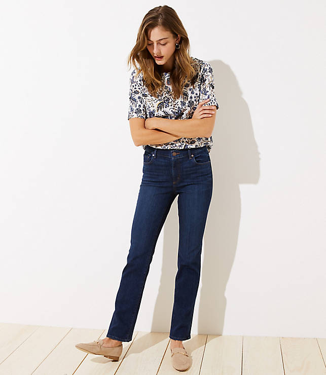 LOFT Modern Bootcut Jeans (Dark Classic Indigo Wash)
