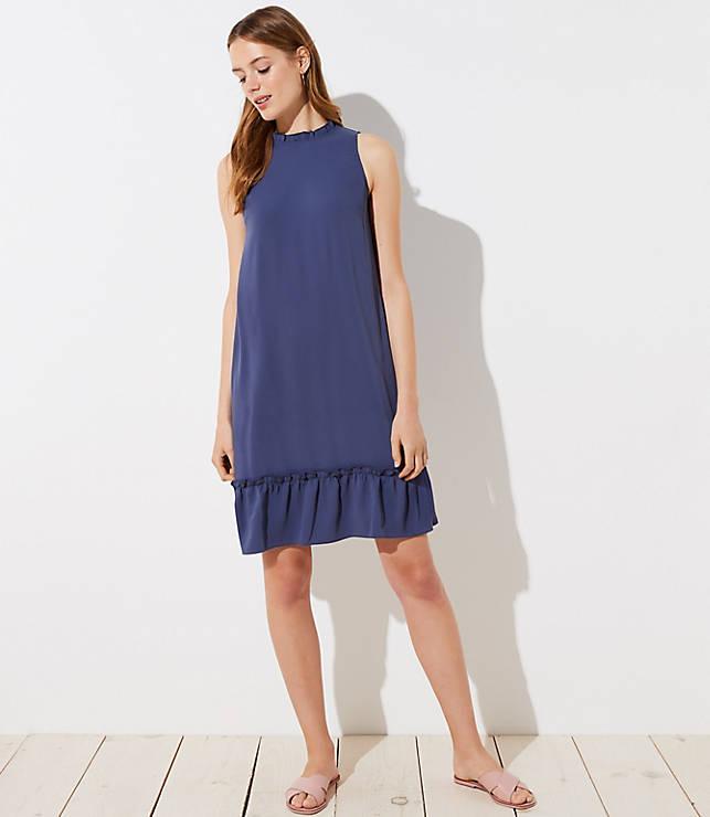 Petite Ruffle Flounce Halter Dress
