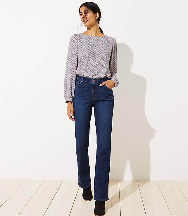 959101ea3190f Curvy Bootcut Jeans in Dark Classic Indigo Wash | LOFT
