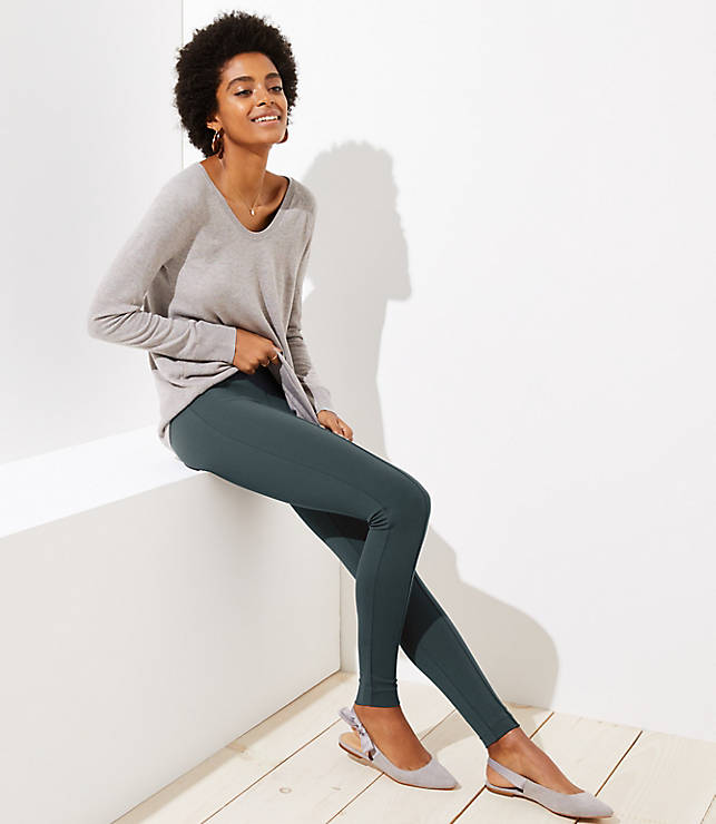 063a7d4e672 Leggings in Seamed Ponte