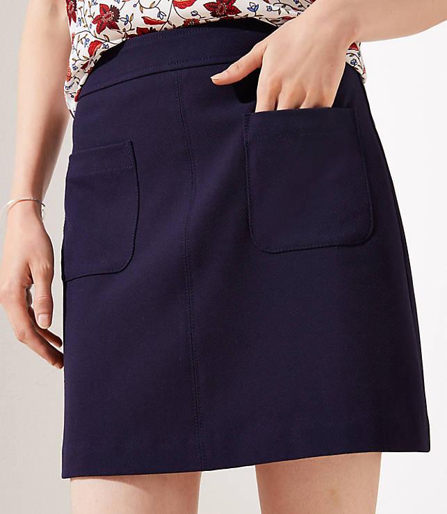 Petite Pocket Shift Skirt