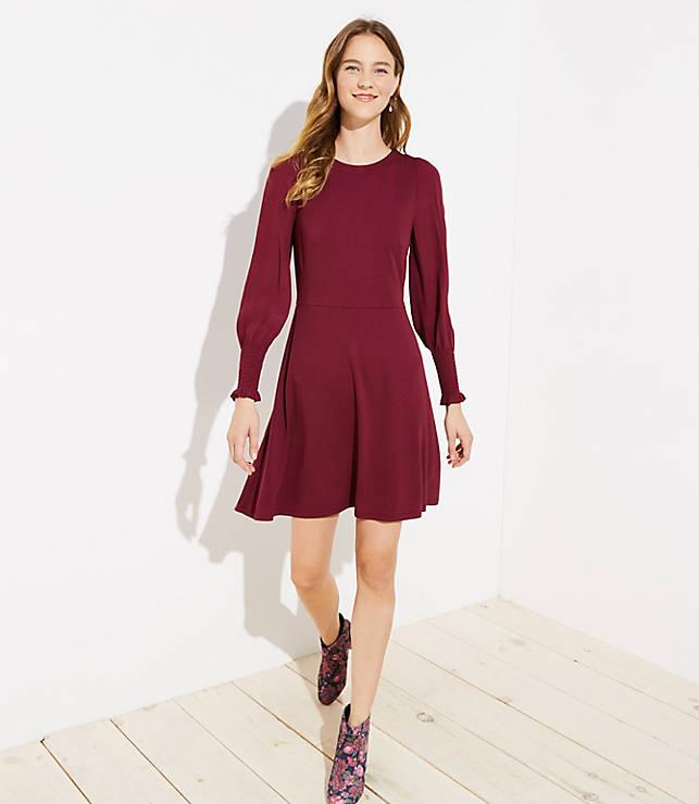 Petite Smocked Cuff Dress