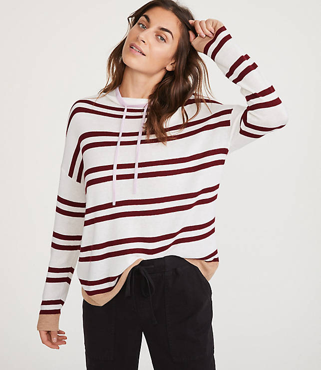 25e287f944bc7 Lou & Grey Shimmer Stripe Sweater   LOFT