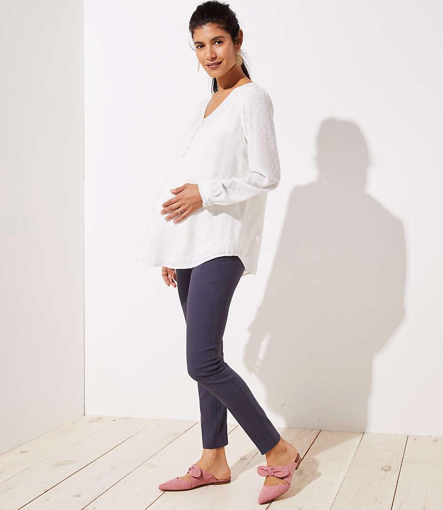 47a52a551a650 Petite Maternity Skinny Ankle Pants | LOFT