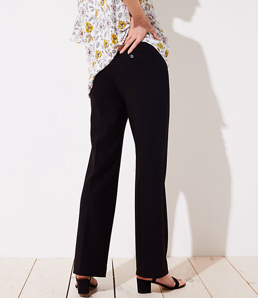 54aeff8a57b2f Image 2 of 3 - Petite Maternity Trousers in Doubleweave