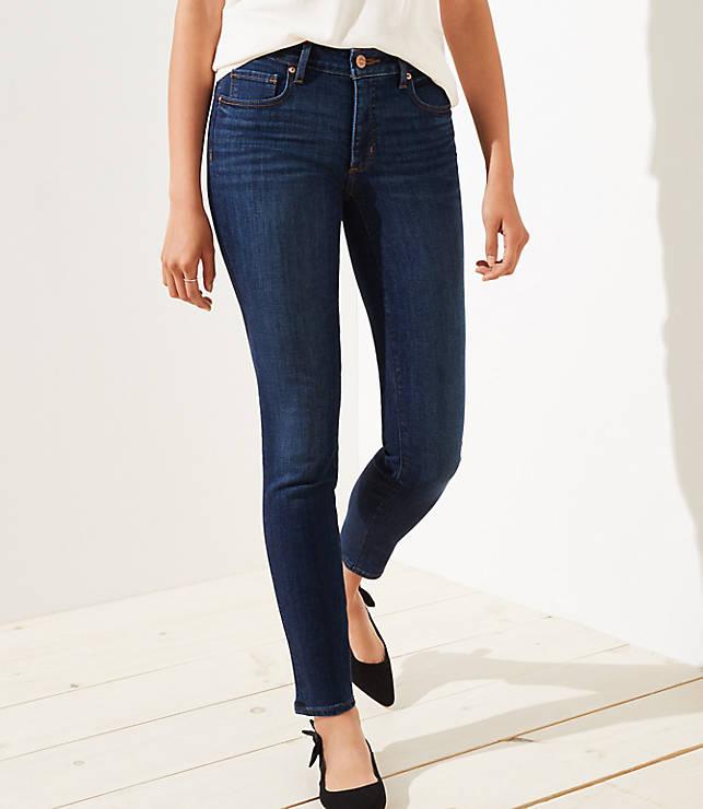 Petite Curvy Slim Pocket Skinny Jeans in Staple Dark Indigo Wash