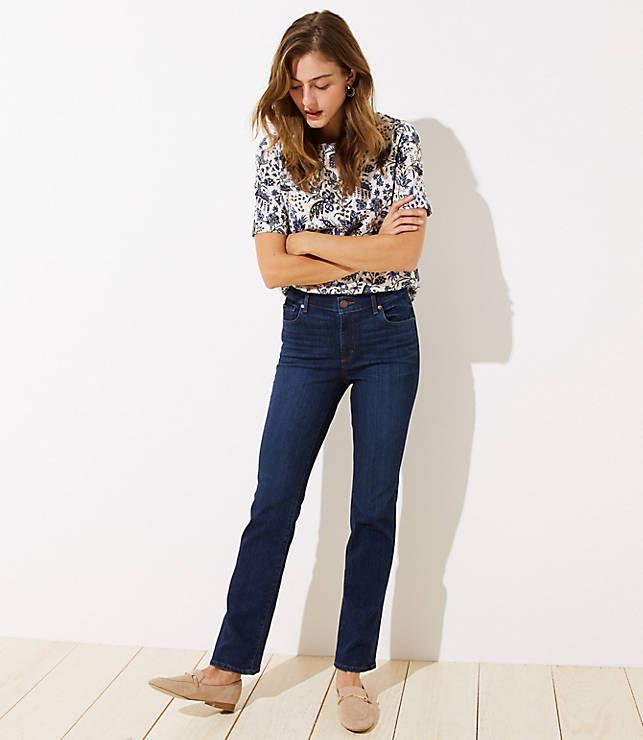 Petite Modern Bootcut Jeans in Dark Classic Indigo Wash