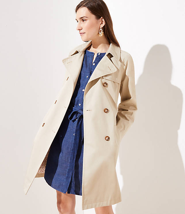 Petite Floral Lined Trench Coat