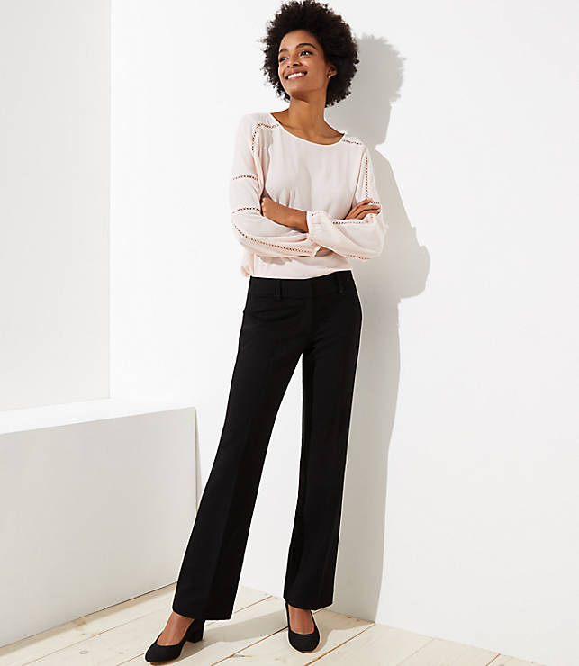 Petite Trousers In Doubleweave In Marisa Fit by Loft