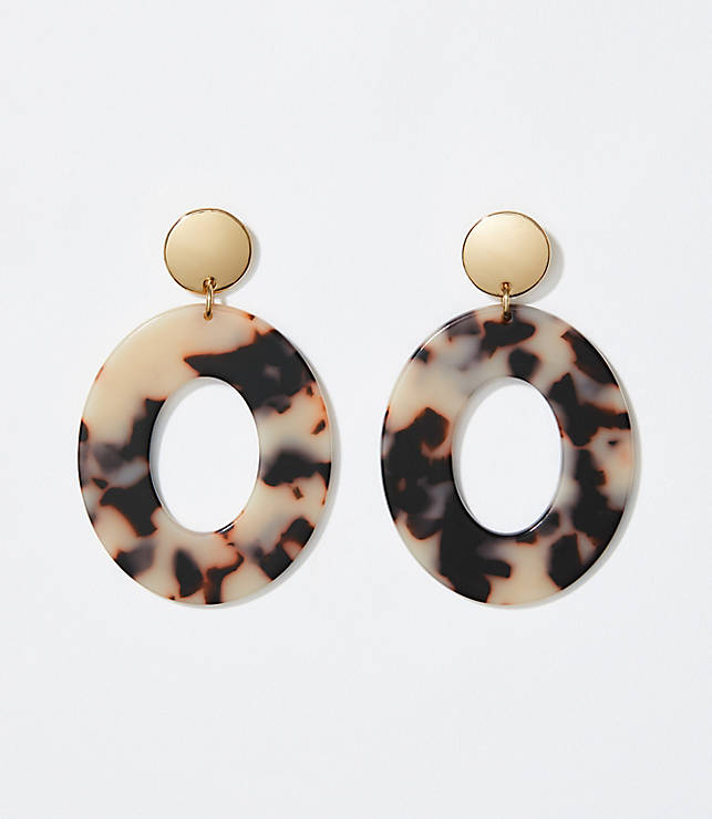 cd16ac87494 Tortoiseshell Print Ring Earrings