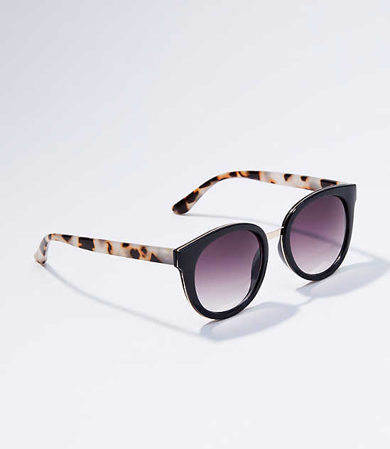 b50eb6c59d Metallic Bridge Cateye Sunglasses