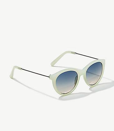 30514ee4f85 Metallic Arm Marbleized Cateye Sunglasses