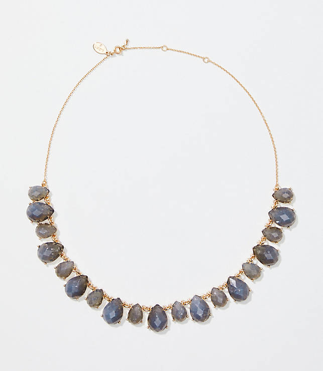 Teardrop Stone Statement Necklace by Loft