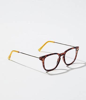 cfc8280d4539 Metallic Arm Rectangle Reading Glasses