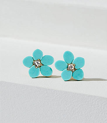 1ba8a64e1 Crystal Flower Stud Earrings