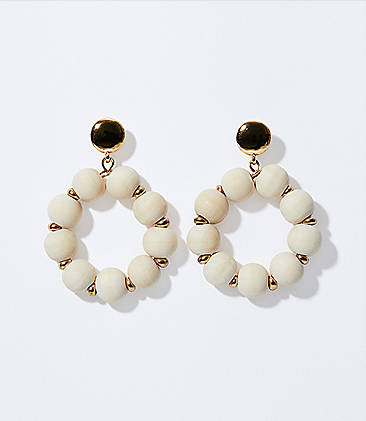 189c58749 Wooden Bead Ring Earrings