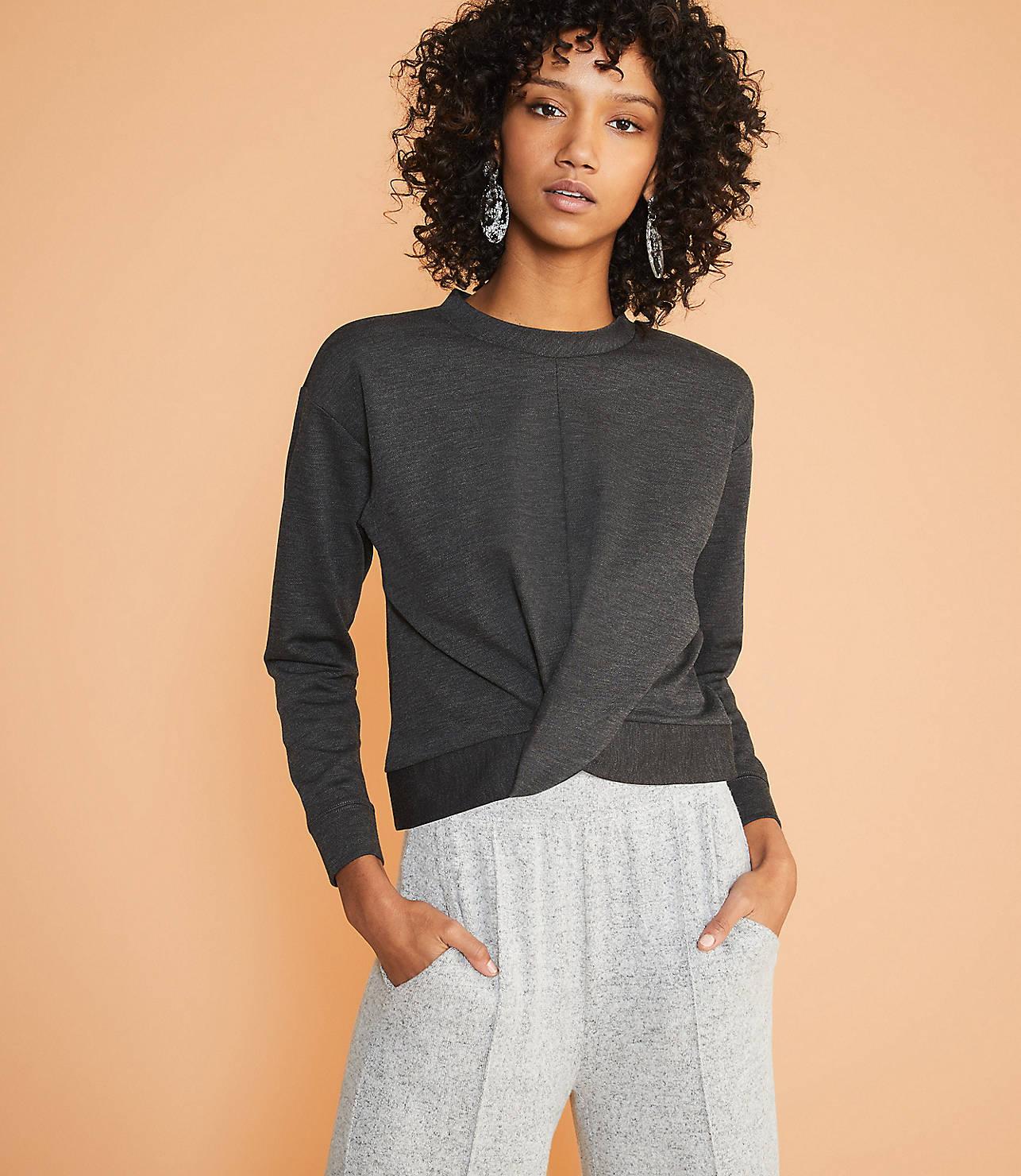 Lou & Grey Ponte Twist Sweatshirt by Lou & Grey