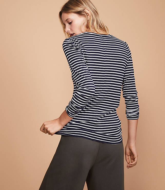 cd70792dc69 Lou   Grey Striped Softened Jersey Layering Tee
