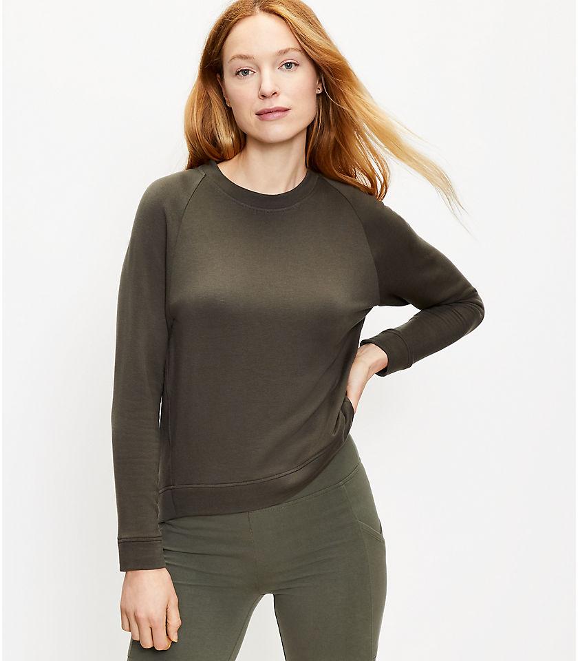 로프트 LOFT Lou & Grey Signaturesoft Plush Upstate Sweatshirt