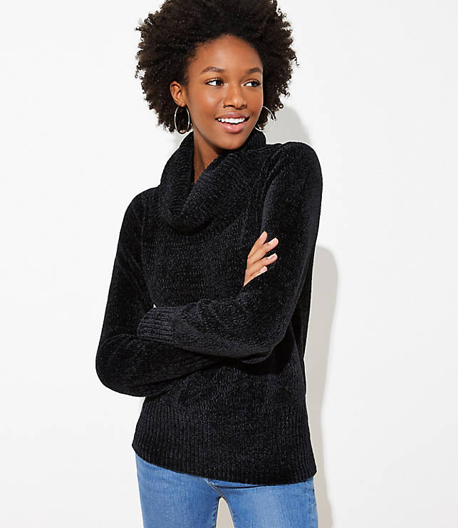 Chenille Cowl Neck Sweater  46ee6715c