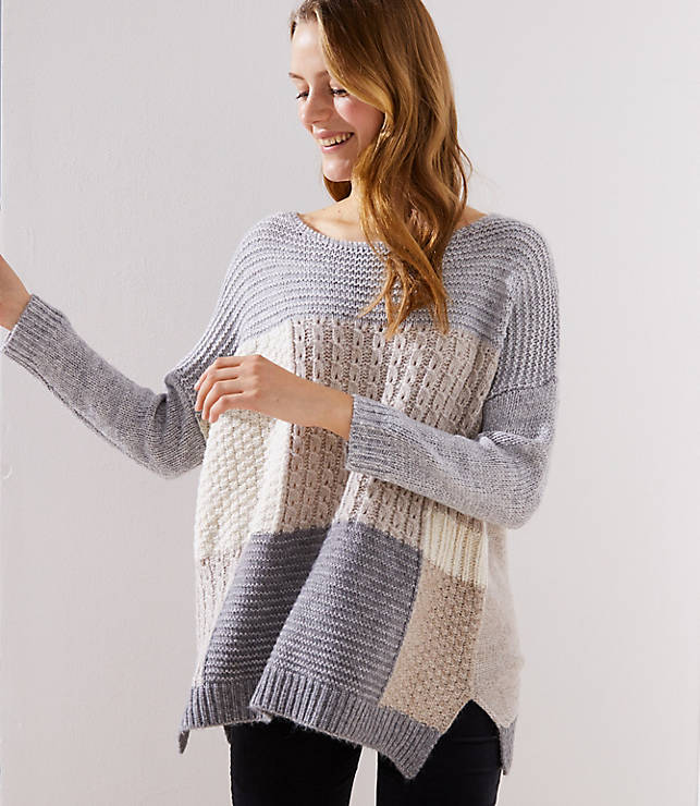 aef63c54006c Patchwork Dolman Sweater
